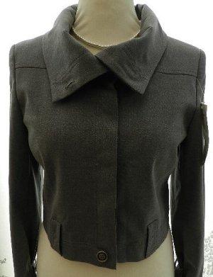 Apart Krótka kurtka ciemnoszary Tkanina z mieszanych włókien