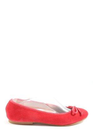 Apart Składane baleriny czerwony W stylu casual