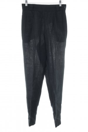 Apart Fashion Spodnie z wysokim stanem czarny W stylu casual