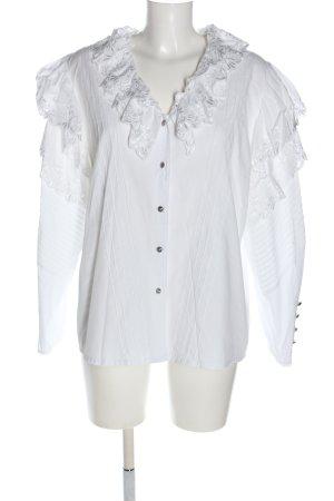 Apart Fashion Blouse à manches longues blanc motif rayé style décontracté