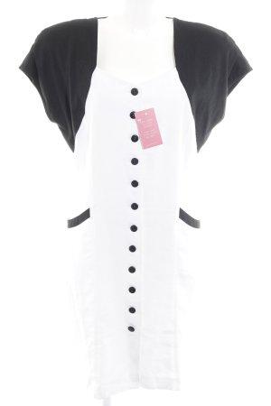 Apart Fashion Midi-jurk zwart-wit vintage uitstraling