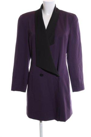 Apart Fashion Płaszcz oversize fiolet-czarny W stylu casual