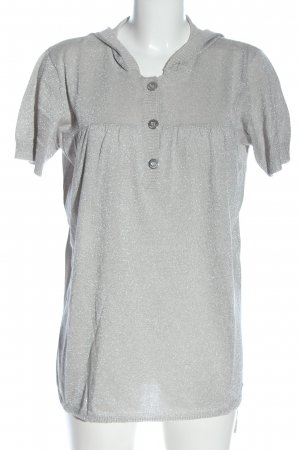 Apart T-shirts en mailles tricotées gris clair style décontracté