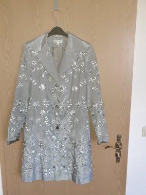 Apart Długa marynarka srebrny Tkanina z mieszanych włókien