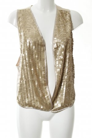Apart Fringed Vest gold-colored glittery
