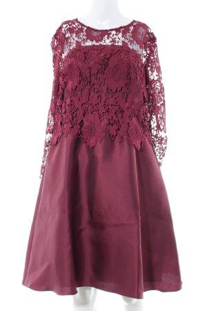 Apart  glamour A Line Dress red flower pattern elegant