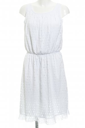 Apart  glamour A Line Dress white spot pattern casual look