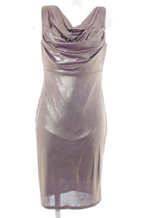 Apart  glamour Abendkleid goldfarben-lila Glitzer-Optik