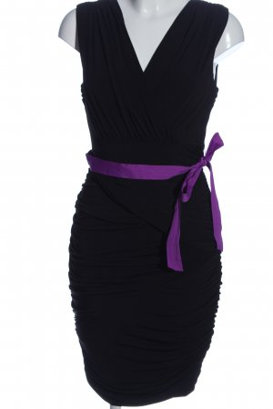 Apart  glamour Kokerjurk zwart-lila elegant