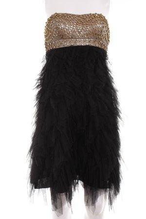 Apart  glamour Bustierkleid schwarz-goldfarben Elegant