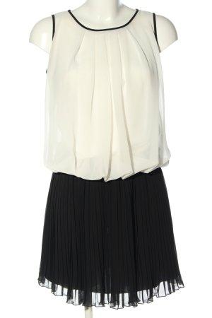 Apart  glamour Szyfonowa sukienka biały-czarny W stylu casual