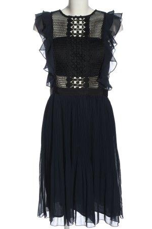 Apart  glamour Cocktailjurk blauw-zwart elegant