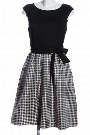 Apart  glamour Sukienka midi czarny-biały Wzór w kropki Elegancki