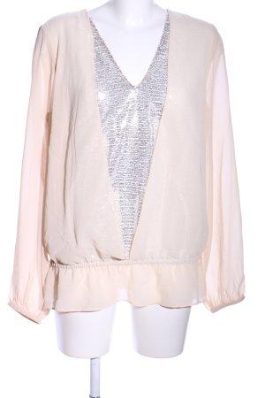Apart Glanzende blouse nude-zilver elegant