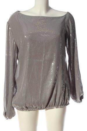 Apart Blusa brillante argento elegante