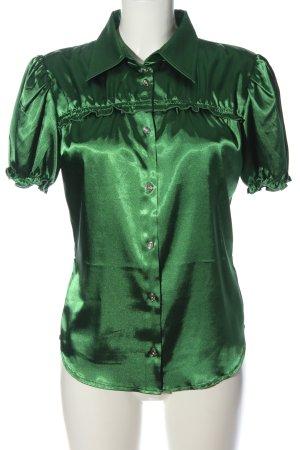 Apart Glanzbluse grün Elegant