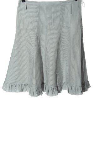 Apart Falda acampanada gris claro-blanco estampado a rayas elegante