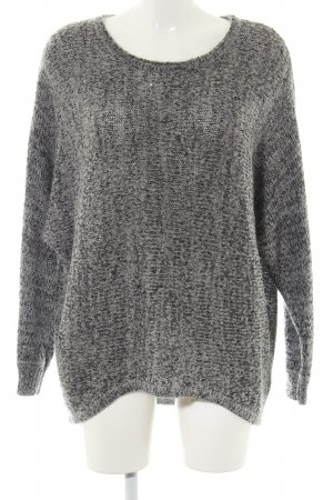 Apart Coarse Knitted Sweater light grey flecked casual look