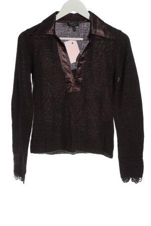 Apart Crochet Sweater brown casual look