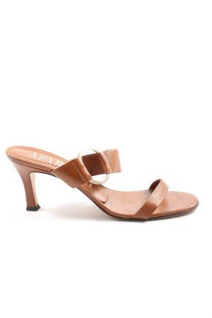 Apart Sandaletto con tacco alto marrone stile casual