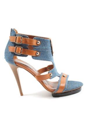 Apart High Heels blau-braun meliert Casual-Look