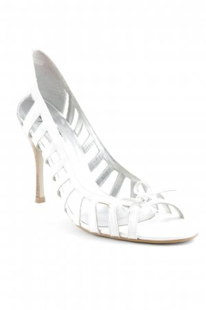 Apart High Heels weiß-hellgrau Elegant