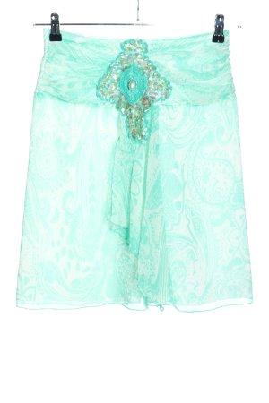 Apart Jupe taille haute turquoise motif abstrait élégant