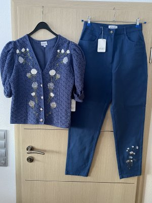 Apart Traditional Trousers steel blue
