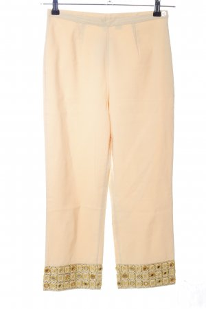 Apart Impressions 7/8 Length Trousers cream-gold-colored extravagant style