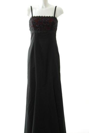 Apart Impressions Robe de soirée noir-rouge foncé élégant