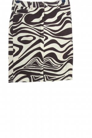 Apart Impressions Kokerrok bruin-wolwit abstract patroon casual uitstraling