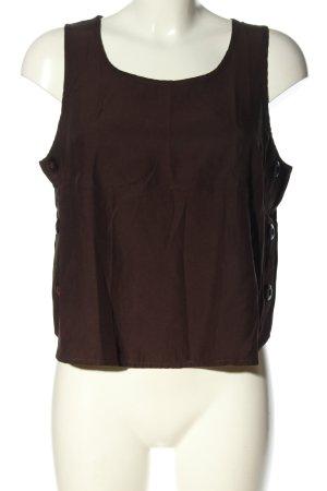 Apart Impressions Top koszulowy brązowy W stylu casual