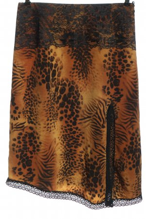 Apart Impressions High Waist Skirt light orange-black animal pattern elegant