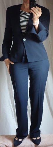 Apart Impressions Tailleur-pantalon bleu foncé-bleu polyester