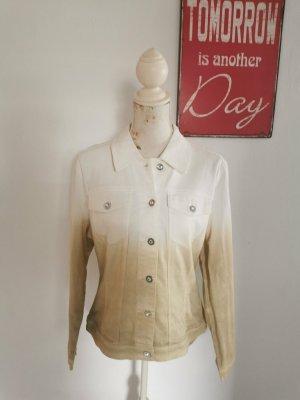 Apart Impressions Denim Jacket sand brown-white cotton