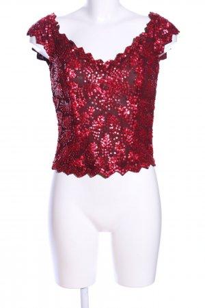 Apart Impressions Short Sleeved Blouse red glittery