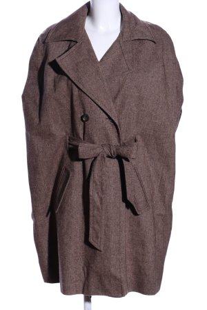 Apart Impressions Krótki płaszcz brązowy Melanżowy W stylu casual