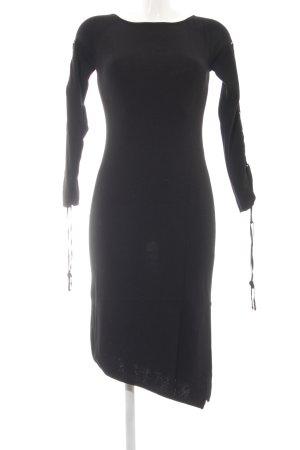 Apart Impressions Robe à manches longues noir style décontracté