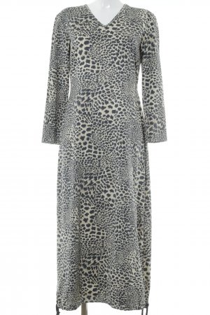 Apart Impressions Longsleeve Dress pale yellow-anthracite animal pattern