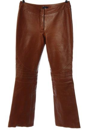 Apart Impressions Leren broek bruin casual uitstraling
