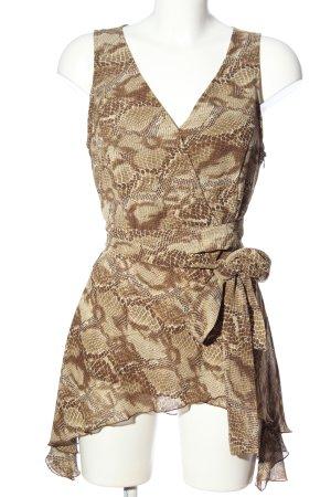 Apart Impressions Długa bluzka brązowy-kremowy Zwierzęcy wzór Elegancki