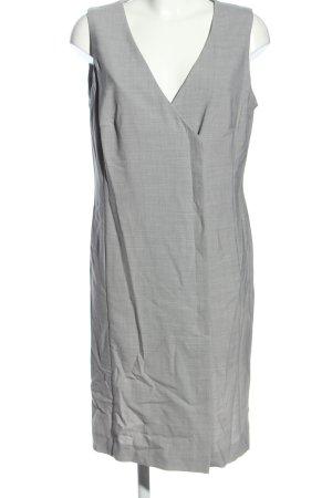 Apart Impressions Sukienka midi jasnoszary Siateczkowy wzór W stylu biznesowym