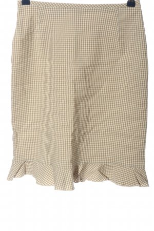 Apart Impressions Pencil Skirt cream-white check pattern casual look