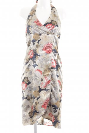 Apart Impressions Halter Dress natural white-red flower pattern casual look