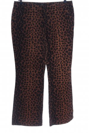Apart Impressions Jersey Pants brown-black allover print extravagant style