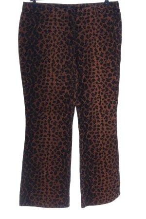 Apart Impressions Stoffen broek bruin-zwart volledige print extravagante stijl