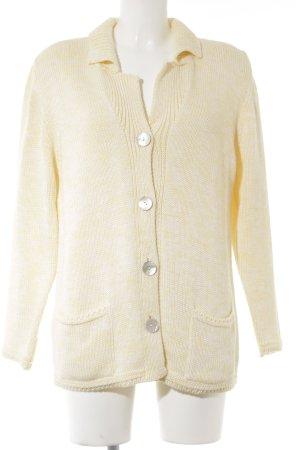 Apart Impressions Veste en tricot jaune clair moucheté style décontracté