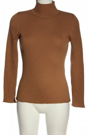 Apart Impressions Fine Knit Jumper brown cable stitch casual look