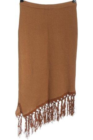 Apart Impressions Falda de punto marrón look casual