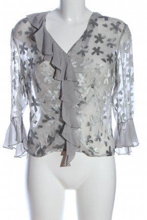 Apart Impressions Transparent Blouse light grey allover print casual look